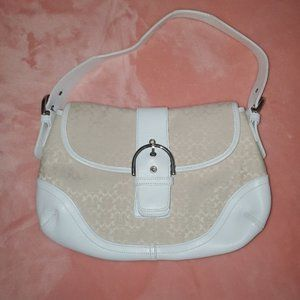 Coach ~Tan w/white leather *Like NEW Condition*